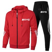 2021 New fashion brand mens two-piece suit spring and autumn casual mens striped sportswear hooded track suit mens sportswearsoccer jersey