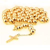 10 мм золотой серебряный цвет из нержавеющей стали бусины розарии металлические розария круглые бусины ожерелье католицизм молитвели религиозные украшения 210331