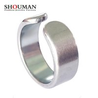 Wedding Rings SHOUMAN Fashion Titanium Steel Smooth Women Punk Open Ring High Polished Silvery Finger Jewelry Accessory