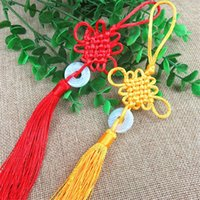 Decorative Objects & Figurines Chinese Knot Pendant Home Bonsai Calendar Musical Instrument Bag Decoration Hanging Ornament Blessing Gift Ha