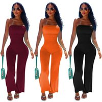 2021 Women Jumpsuits Rompers Off Shoulder Bodycon Long Sleeve Clubwear Playsuit Skinny Sexy Playsuits Female Black Trousers S-XXL