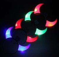 Party Decoration LED Flashing Horns Headband Glow Light Up Xmas Devil Hoop Hoop Heatwear Costume Fancy Accessories