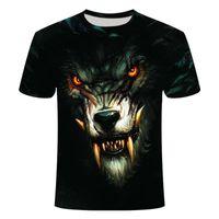 Летние моды мужские популярные дизайн Wolf 3D печать футболка o воротник повседневная мальчик с коротким рукавом персонализированный хип-хоп т Шир