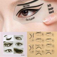 10pcs Cat Smokey Eyeliner Stencil Eye Shadow Guide Makeup Simple Tool Set Eyeshadow