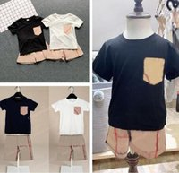 2019 новая летняя мода детская одежда комплект блузка без рукавов черная полоса брюки 2 шт. Детская девушка одежда наборы для 1-6y