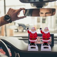 Interior Decorations Car Ornaments Solar Santa Dancing Toy Dashboard Christmas Decor Shaking Head Decoration Accessories