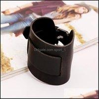 Браслеты очарования JewelryLeather заплетенный браслет браслет черный Браслет черный коричневый панк рок Cowe толстый широкий ремешок блокировки браслеты браслеты