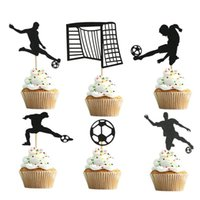 Other Event & Party Supplies Basketball Football Cupcake Topper Sports Theme Happy Birthday Cake Flage For Kids Boy Decoration