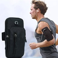 Açık Çanta Koşu Erkekler Kadınlar Kol Telefon Para Tuşları Spor Paketi Çantası Kulaklık Delik Basit Stil Band Ile