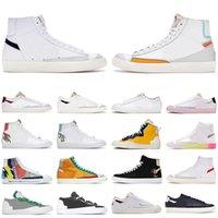 2021 Blazer mid 77 vintage low men women casual shoes Black White Multi Color Pink Foam Pacific Blue Kumquat Thermal мужские кроссовки на платформе кроссовки
