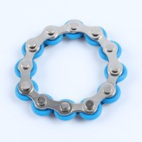 12 Knots Bike Chain Toy Key Ring Fidget Spinner Gyro Hand Metal Finger Keyring Bracelet Toys Reduce Decompression Anxiety Anti Stress For Adult Student DHL
