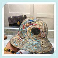 Lussurys Designer Picco di Cappelli Cappelli Ampio Brim Brim Baseball Cap Bonnet Mens Plaid Denim Designer Secchio Cappello Cappello Lettera Stampa Cartoon Casquette