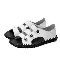 Sandals Hombre Sandali Flops Couple Homme Leather Male Ete De Roman Work Summer Slipers Wear Verano Flop Sole Safety 2021 Sport Sandles