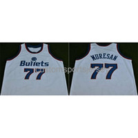 Сшитые пользовательские 77 Gheorghe Muresan White NCAA Men Basketball Jerseys XS-6XL