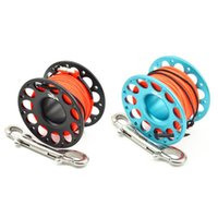 Pool & Accessories 13m15m Aviation Aluminum Scuba Diving Spool Reel With Stainless Steel Double Ended Hook Underwater Fishing Cave Dive Equi