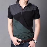 Chemise Casual Casual Sleeve Shirts Hommes Summer Coton Respirant Tops T-Harajuku Streetwear Vêtements Vêtements surdimensionnés Tolos pour hommes