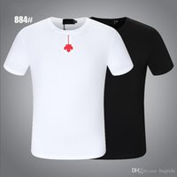 D2 Casual erkek Tasarımcısı Akçaağaç Yaprağı Hip-Hop Polo Gömlek T Shirt Tops Tee Mektup Baskı Kısa Kollu Beyaz Yaka Yaz Polos DSQ DSQUAR