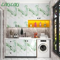 Wallpapers Oil Proof Marble Kitchen Stickers Film Waterproof Wooden Wallpaper Self Adhesive For Cabinet Desktop Furniture Renovation