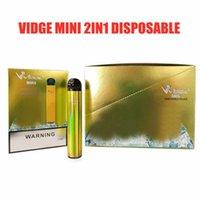 Vidge mini 2 in 1 tek kullanımlık sigara cihazı 400 mAh pil 600 Puffs 2 ml Pod Önceden doldurulmuş vapes pods stick taşınabilir buhar vape 5 renkler