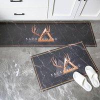 Carpets Modern Kitchen Mat Marble Style Long Strip Entrance Doormat Bedroom Floor Hallway Area Carpet Anti-Slip Water Absorbent Rugs