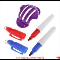 Outros produtos Esportes Ao Ar Livre Bola de Golfe Alinhamento Liner Marker Line Marking PENS Modelo D Stencil Putting Putt Linear Training Auxiliares