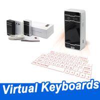 لوحات المفاتيح اللاسلكية الإسقاط الليزر لوحة المفاتيح الافتراضية بلوتوث مع سماعات ماوس صوت لسامسونج فون