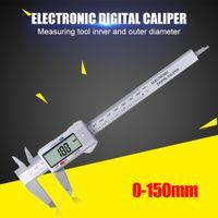 150mm LCD Digital Electronic Carbon Fiber Verniers Caliper Gauge Micrometer Depth Measuring Instrument Vernier Calipers Tool