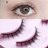 False Eyelashes 5 Pairs Natural Short Cross Daily Eye Lashes Girls Makeup Eyelash Kit