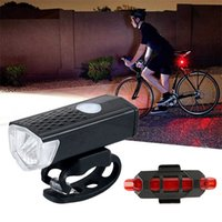 USB recarregável bicicleta luz mtb front de bicicleta traseira traseira traseira taillight segurança segurança aviso à prova d 'água lâmpada flashligh carro