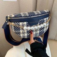 Waist Bags High Quality Fashion Bag Fanny Pack Female Handbag 2021 Plaid Shoulder Women Chian Crossbody Chest Purses