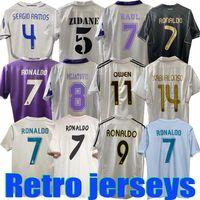 Real Madrid Retro Football Jersey Guti Ramos Seaorf Carlos 13 14 15 16 Ronaldo Zidane Beckham Raul Redondo 94 95 96 97 98 99 00 01 02 03 04 05 07 Hierro Figo