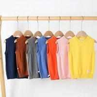 Детский вязаный жилет Осенняя одежда Пуловер мальчиков и девочек свитер для детей P2 91 Жилет