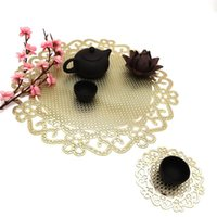 Mats & Pads Hollow Chinese Knot Small PVC Stamping Placemat Christmas Party Decoration Environmental +