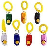 애완 동물 클릭 트레이너 개 교육 Clicker 및 휘파람 조합 Repeller Aid Key Ring 손목 스트랩 BWD9126