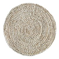 Mats & Pads Corn Straw Braided Dining Table Extra Thick Coasters Mat Natural Handmade Woven Placemat Insulation Resuable Pad