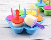 Красочные мороженые инструменты силиконовые творческие детские комплементарные продукты питания коробка 7 отверстий ванны коробки сыр плесень кухня CCF6554