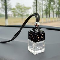 Car Air Freshener Hanging Empty Glass Bottle Perfume Rearview Mirror Ornament Car-styling Essential Oils Fragrance