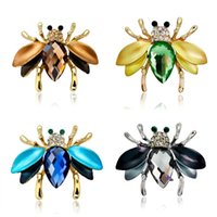 모듬 된 색상 사랑스러운 꿀벌 브로치 핀 귀여운 곤충 동물 브로치 여성 드레스 스카프 디자인 쥬얼리 액세서리 AG134