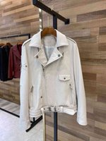 CH 2021 cro koyun derisi erken bahar yeni perçin metal düğme çapraz ceket yaka işlemeli ceket kadınlar için 1gs6