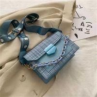 2021 Wide Strap Shoulder Bags for Women 2021 Designer Lady Handbags and Purses Fashion Chain Messenger Crossbody Bag2On Sale