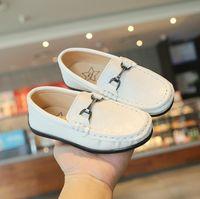 Moda Süper Yumuşak Çocuk Ayakkabı Bebek Toddlers Erkek Kız Büyük Çocuk Okul Loafer'lar Casual Flats Sneakers Moccasins Boyutu 21-30