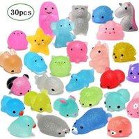 RCtown 30 pcs mochi brinquedos mochi brinquedos mini animal em forma de squishies brinquedos favores festa para crianças stress relevo brinquedos xmas presentes 210409