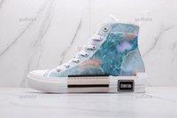 Scarpe per bambini 2021 B23 B22 B24 Designer Sneakers Obliqui Tecnici 19SS Fiori Piattaforma All'aperto Casual Trainer in pelle