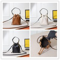 디자이너 미니 몬 투명 트리 or 양동이 가방 핸드백 가죽 Drawstring 어깨 가방 천공 가죽 버킷 가방 여성 8899 크기