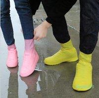 Латекс водонепроницаемая дождевая обувь охватывает анти дождь Водовая обувь одноразовые скользящие резиновые резиновые дождь ботинки ботинки Обувь аксессуары YP700