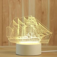 Creative 3D Night Lights Acrylic Desktop Nightlight Boys and Girls Holiday Gift Decorative Lamps Bedroom Bedside Table Lamp ferry