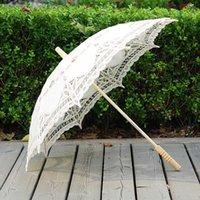 Qutyingxiu artesanato branco guarda-chuva de algodão decoração de algodão fotografia adere europeu dança desempenho bordado guarda-chuva t200117