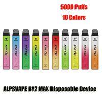 Alpsvape originale By2 Max 5000 Blows Blows Dispositivo di pod monouso Interruttore inferiore ricaricabile 900mAh Batteria Premilled 12ml Cartridge Vape Pen VS Bar Plus XXL