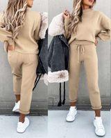 women s clothing pant 2 piece set winter long sleeve Sportwear jogging suits tracksuit hoodies plus size tracksuit1 woman