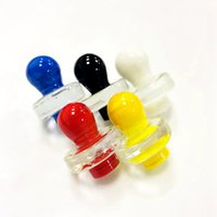 OD 25mm Smoking Accessories 5 Colors Heady Unique Ball Shape Style Carb Caps Dome For Quartz Banger Nails Glass Water Bongs Glass Bubble